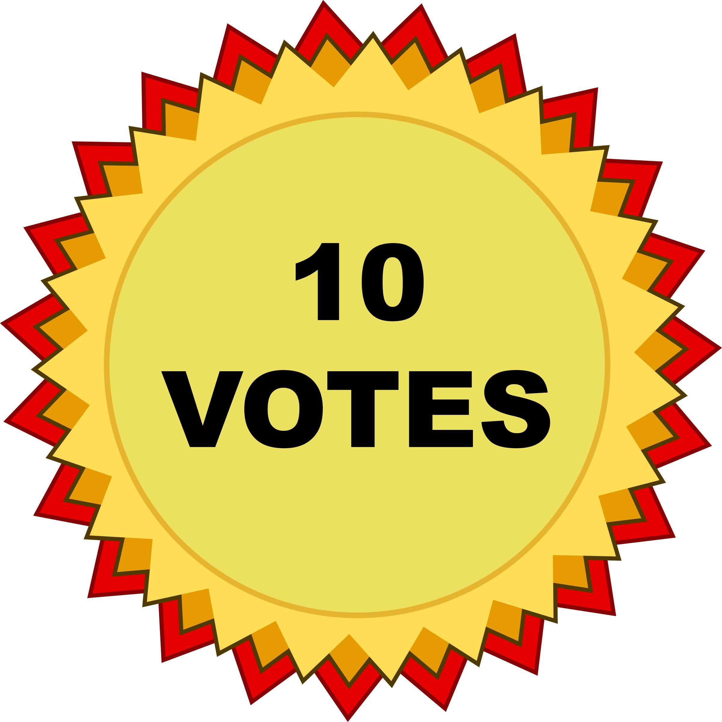 10 VOTES