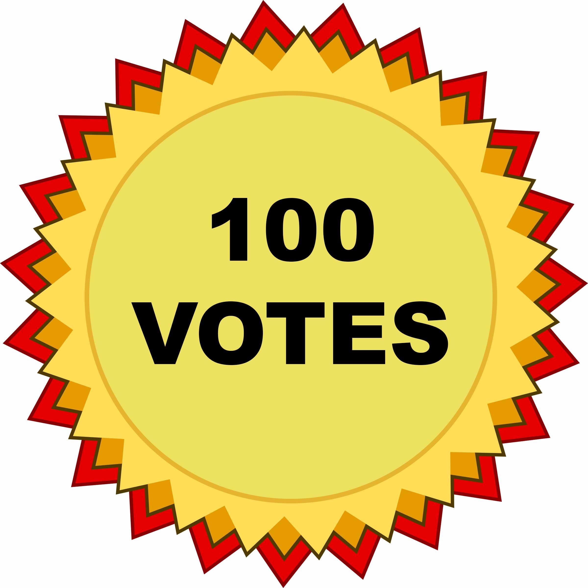 100 VOTES