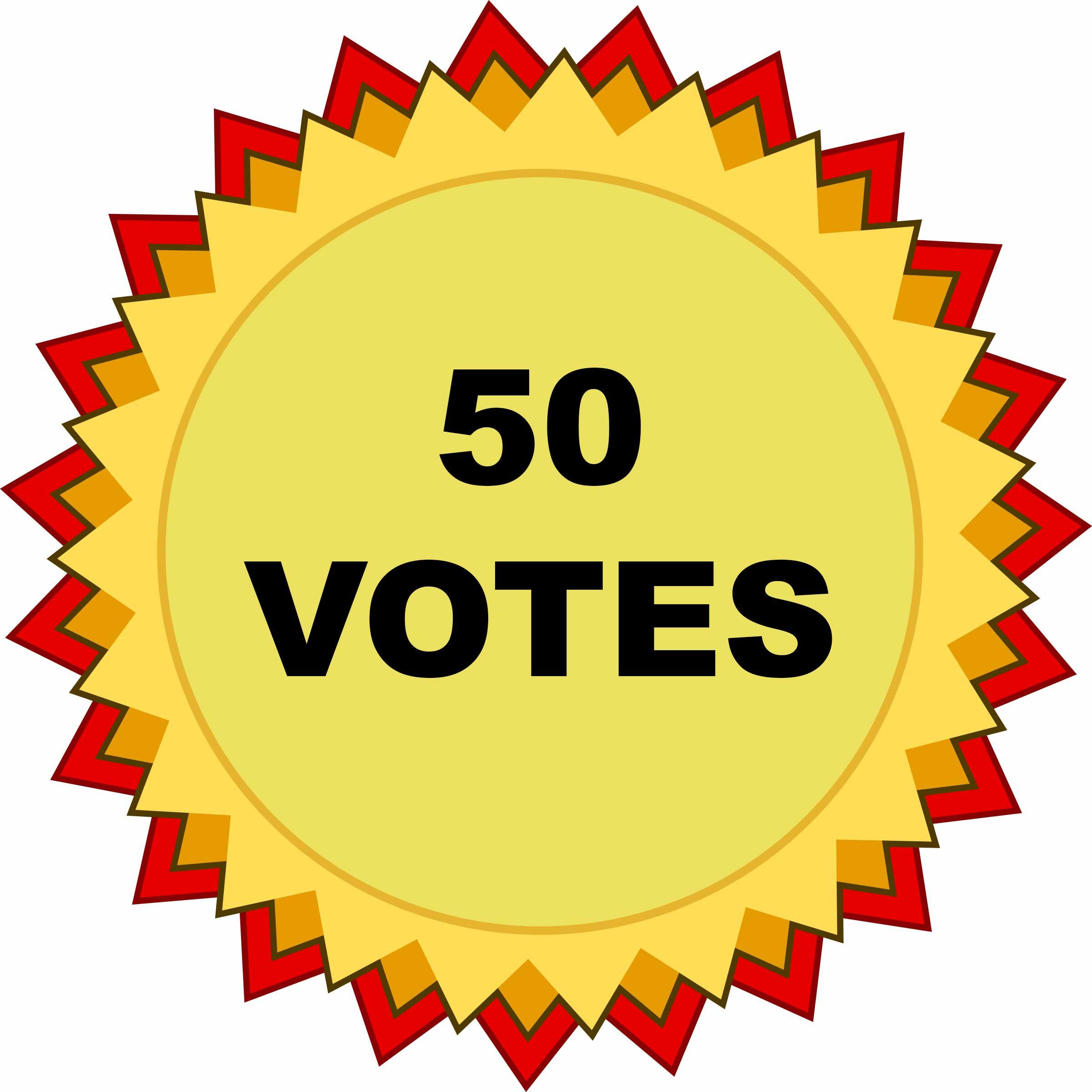 50 VOTES